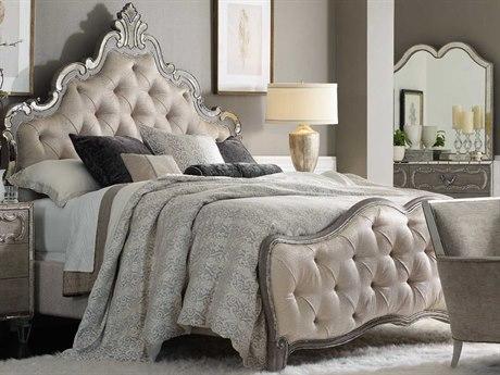 Hooker Furniture Sanctuary Greige with Shimmer on Oak King Panel Bed