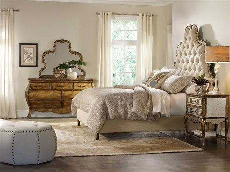 Hooker Furniture Sanctuary Upholstered Platform Bed Bedroom Set