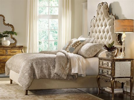 Hooker Furniture Sanctuary Bling Queen Size Tufted Platform Bed