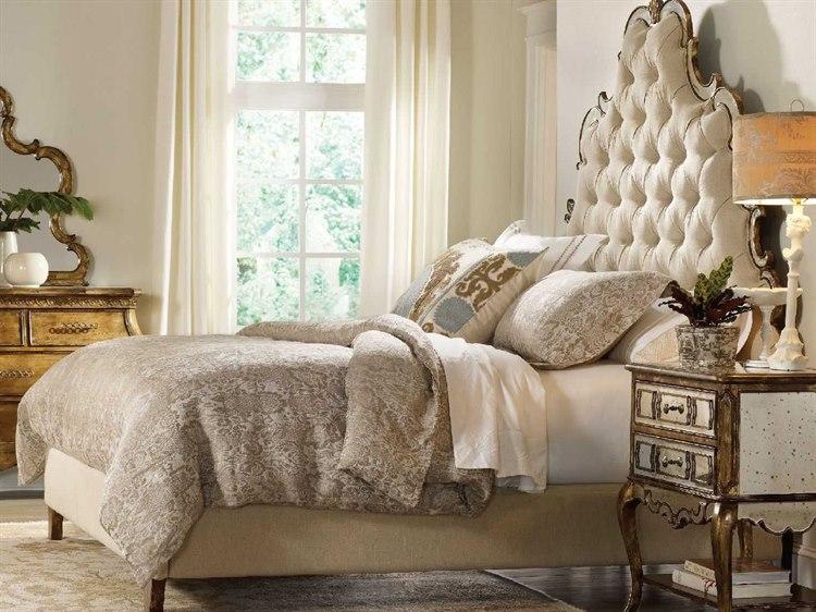 Hooker Furniture Sanctuary Bling King Size Tufted Platform Bed Hoo301690865