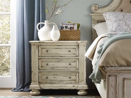 Hooker Furniture Sanctuary Vintage Chalky White 34''W x 21''D Rectangular Nightstand