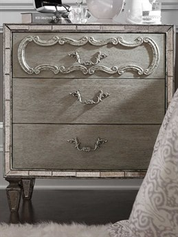 Hooker Furniture Sanctuary Greige with Shimmer on Oak 3 Drawers Nightstand