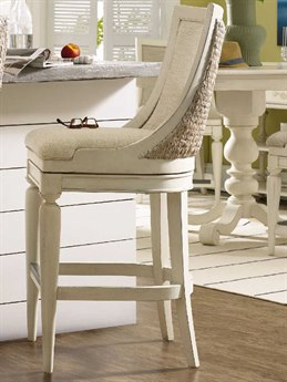Hooker Furniture Sandcastle Creamy Couture White Side Swivel Bar Height Stool