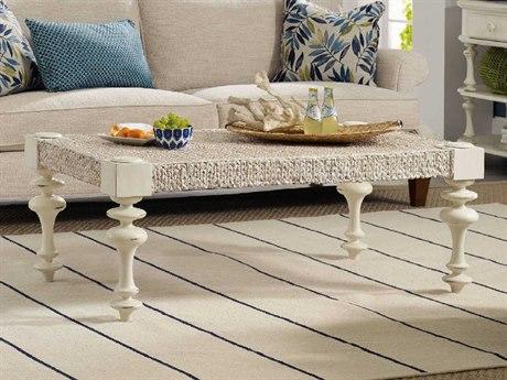 Hooker Furniture Sandcastle White 51''W x 31''D Rectangular Cocktail Table