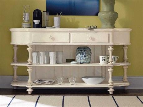 Hooker Furniture Sandcastle White 62''W x 19''D Demilune Console Table