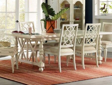 Hooker Furniture Sandcastle White 80-116'' Wide Rectangular Dining Table