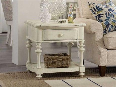 Hooker Furniture Sandcastle White 24''W x 28''D Rectangular End Table
