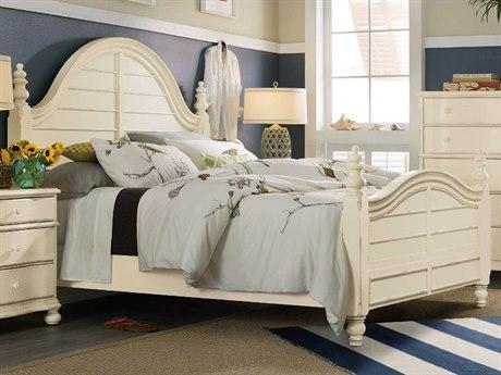 Hooker Furniture Sandcastle White King Size Panel Bed