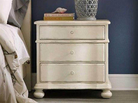 Hooker Furniture Sandcastle White 30''W x 18''D Rectangular Three-Drawer Nightstand