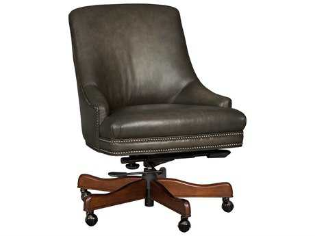 Hooker Furniture Sarzana Castle Dark Wood Executive Swivel Chair HOOEC403095