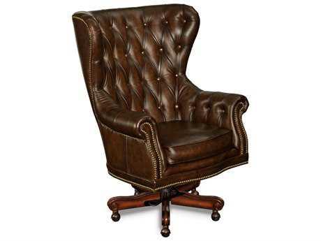Hooker Furniture Sedona Grand Piano Dark Wood Executive Swivel Chair HOOEC362201