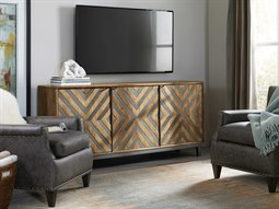 Serramonte Brown With Chevron Inlay TV Stand