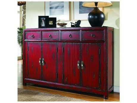 Hooker Furniture Rich Red 58''L x 16''W Rectangular Asian Cabinet Buffet