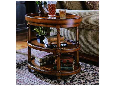 Hooker Furniture Mappa Burl 28'' Wide Oval End Table HOO50050590