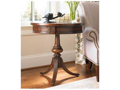 Hooker Furniture Medium Wood 24'' Wide Round Pedestal Table