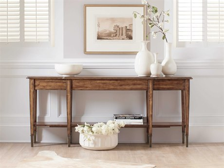 Hooker Furniture Skinny Medium Wood 76''L x 14''W Rectangular Console Table