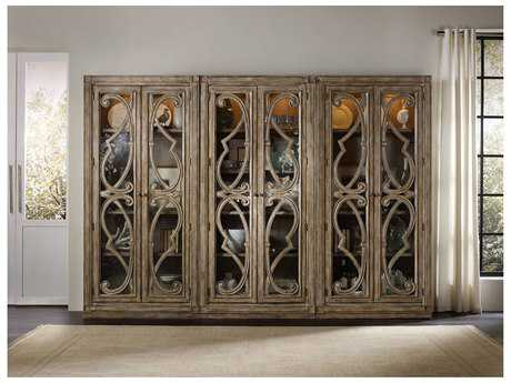 Hooker Furniture Solana Light Wood Bunching Curio Cabinet