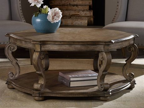 Hooker Furniture Solana Light Wood 48'' Wide Round Cocktail Table