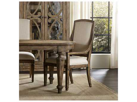 Hooker Furniture Solana Light Wood Arm Dining Chair