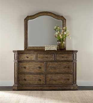 Hooker Furniture Solana Light Wood Double Dresser & Mirror Set