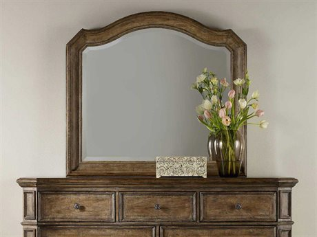 Hooker Furniture Solana Light Wood 46''W x 42''H Landscape Dresser Mirror