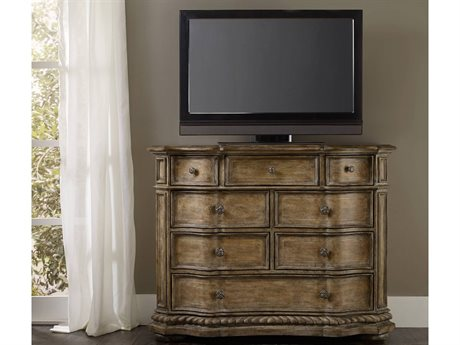 Hooker Furniture Solana Light Wood 54''W x 22''D Rectangular Media Chest HOO529190117