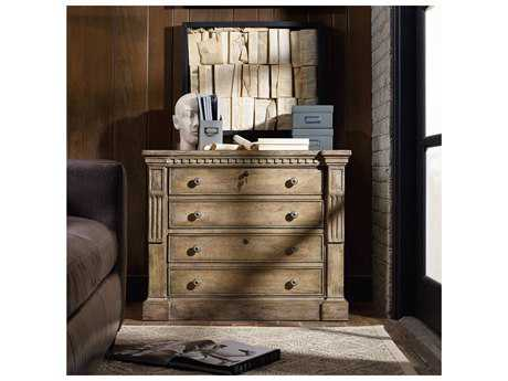 Hooker Furniture Sorella Taupe with White & Light Gold Leaf Lateral File Cabinet