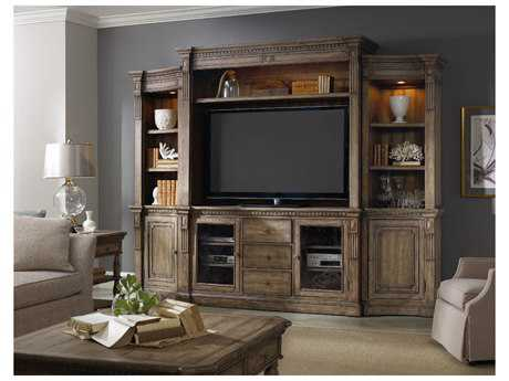 Hooker Furniture Sorella Antique Taupe 122''L x 23''W Entertainment Center HOO510770222