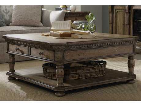 Hooker Furniture Sorella Taupe Antique 47''L x 46''W Rectangular Cocktail Table HOO510780110