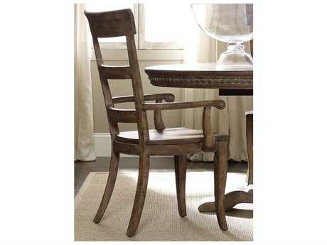 Hooker Furniture Sorella Ladderback Antique Taupe Dining Arm Chair (Sold in 2)
