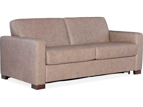 Hooker Furniture Ss Rancho Taupe / Dark Wood Loveseat Sofa