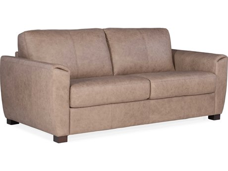 Hooker Furniture Ss Rancho Taupe / Dark Wood Loveseat Sofa HOOSS721SL2083