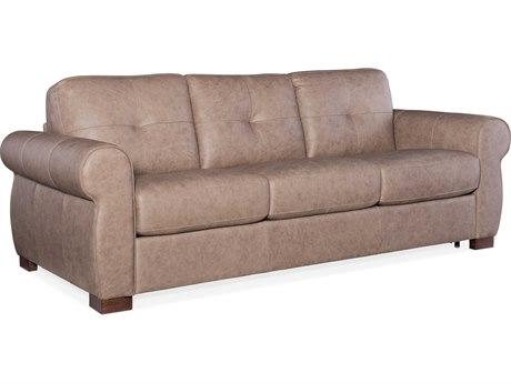 Hooker Furniture Ss Rancho Taupe / Dark Wood Sofa Bed HOOSS722SL3083