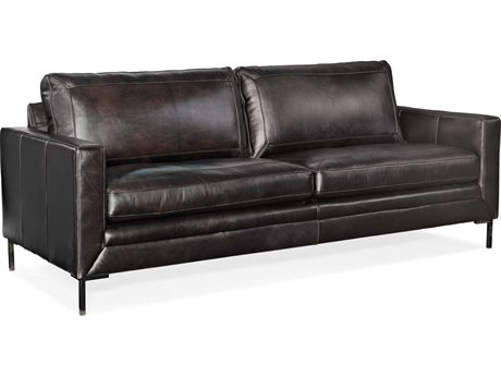 Hooker Furniture Ss Debonair Espresso / Black Sofa Couch