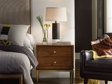 Hooker Furniture Studio 7H Low-sheen Walnut 25''W x 20''D Rectangular San Serif Nightstand