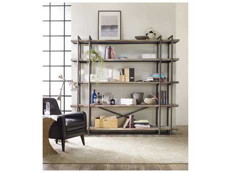 Hooker Furniture Studio 7H Scandinavian Scaffold Bookcase to Entertainment Console