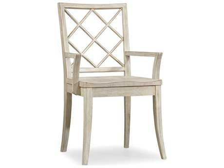Hooker Furniture Sunset Point X Back White, Cream & Beige Dining Arm Chair HOO532575300
