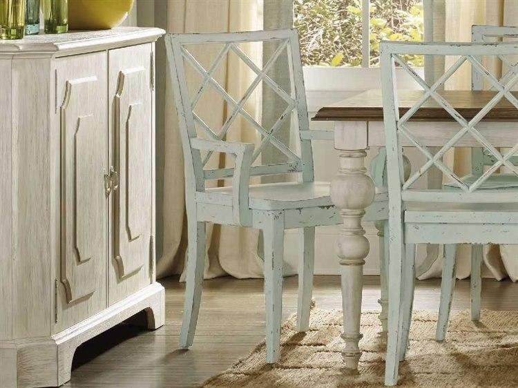 Hooker Furniture Sunset Point X Back St John Blue Dining Arm Chair 5326 75300