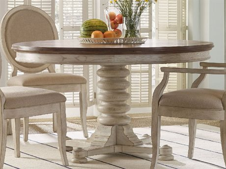 Hooker Furniture Sunset Point Sea Oat with Hattears White 54'' Wide Round Pedestal Dining Table HOO532575203