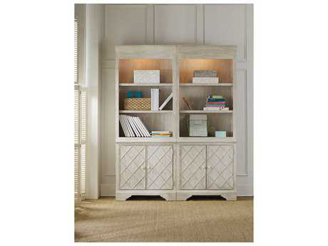 Hooker Furniture Sunset Point White, Cream & Beige Bunching Bookcase