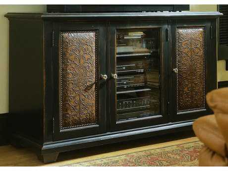 Hooker Furniture Telluride Black with Reddish Brown 60''L x 23''W Rectangular Entertainment Console HOO37055457