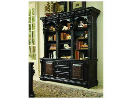 Hooker Furniture Telluride Black with Reddish Brown Bookcase Hutch HOO37010267