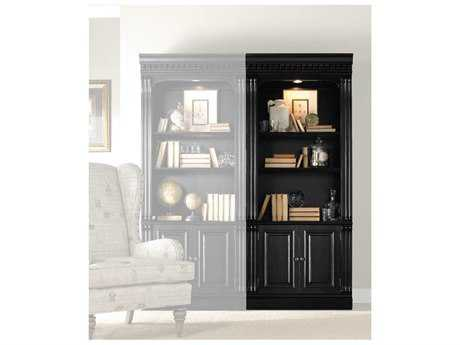 Hooker Furniture Telluride Black Finish With Reddish Brown Rub-through Bookcase HOO37010446