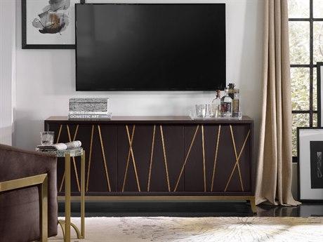 Hooker Furniture Black 66''L x 21''W Rectangular Entertainment Console HOO551855464BLK