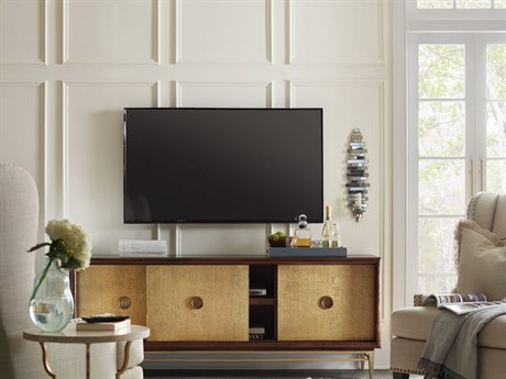 Hooker Furniture Dark Wood 72''L x 18''W Rectangular Entertainment Console HOO560655472DKW