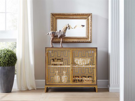 Hooker Furniture Dark Wood with Antique Gold Open Chest