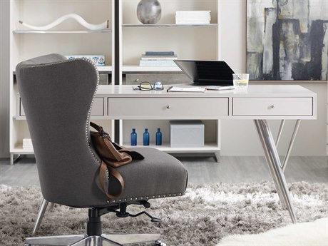Hooker Furniture Sophisticated White 60''L x 30''W Rectangular Writing Desk HOO562210460WH