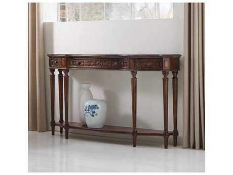 Hooker Furniture Medium Wood 62''L x 14''W Demilune Console Table
