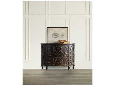 Hooker Furniture Black 46''L x 19''W Demilune Console Table HOO542185001