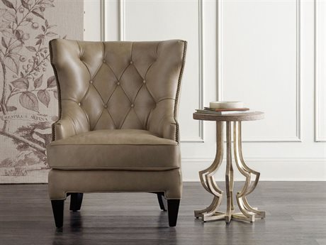 Hooker Furniture Gold 16'' Wide Round Chairside End Table